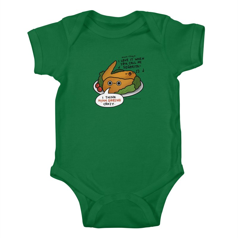 Ayam Goreng Crazy (By Singaporeans For Singaporeans) Kids Baby Bodysuit by Laugh And Belly's Merch