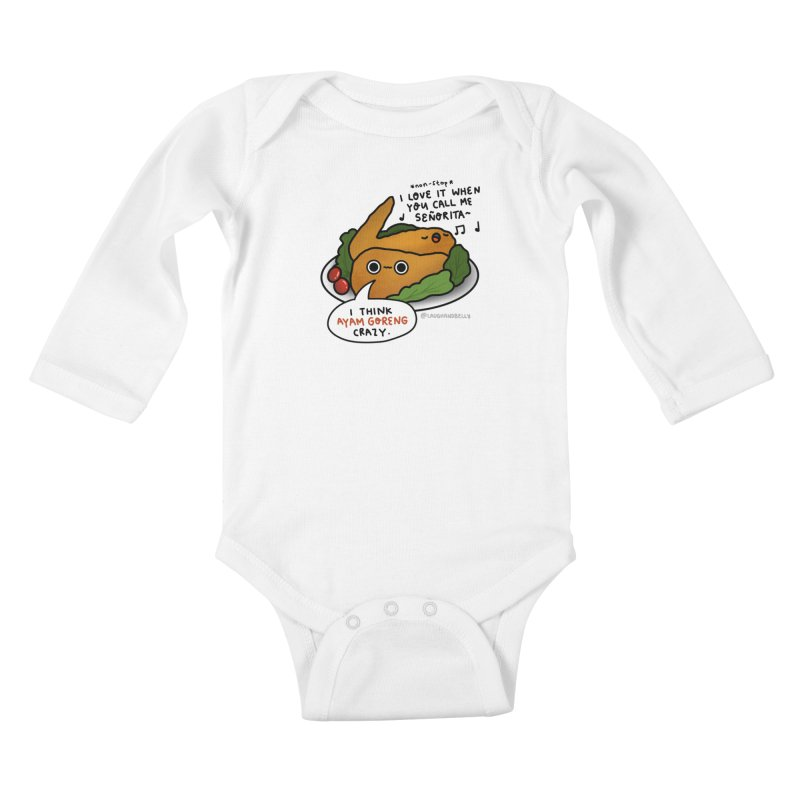 Ayam Goreng Crazy (By Singaporeans For Singaporeans) Kids Baby Longsleeve Bodysuit by Laugh And Belly's Merch