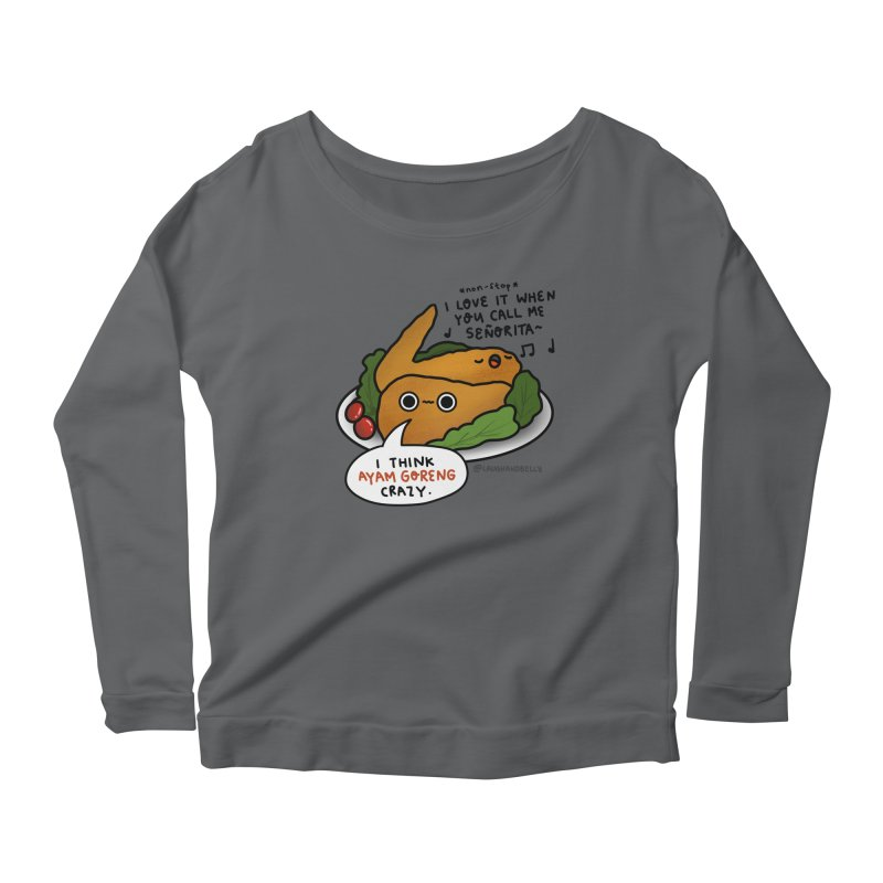 Ayam Goreng Crazy (By Singaporeans For Singaporeans) Women's Longsleeve T-Shirt by Laugh And Belly's Merch