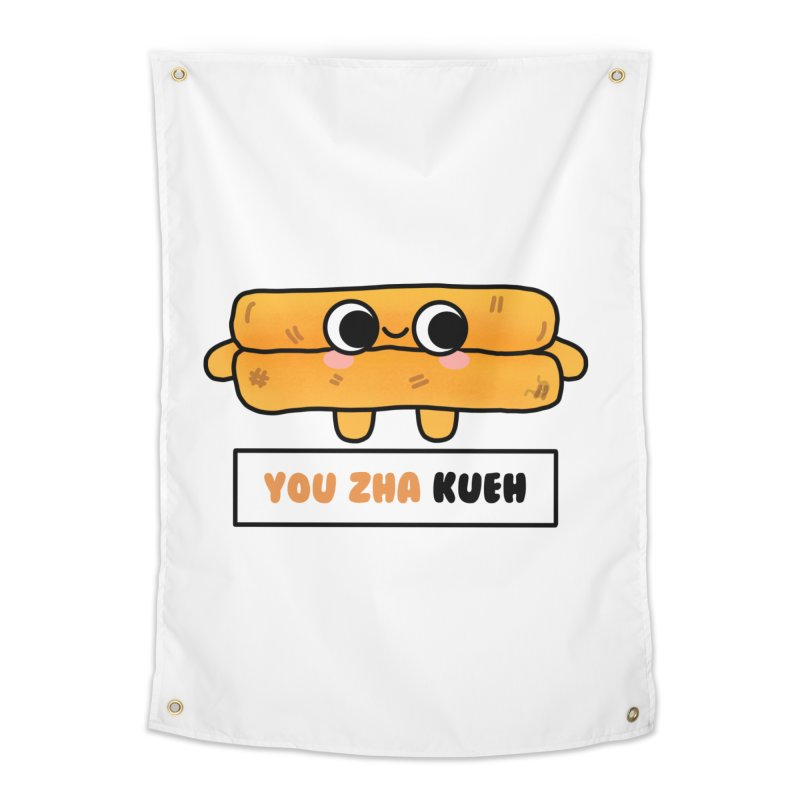 You Zha Kueh (By Singaporeans For Singaporeans) Home Tapestry by Laugh And Belly's Merch