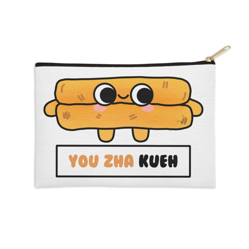 You Zha Kueh (By Singaporeans For Singaporeans) Accessories Zip Pouch by Laugh And Belly's Merch