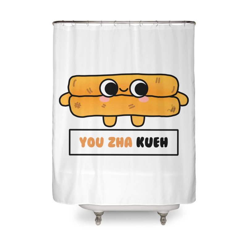 You Zha Kueh (By Singaporeans For Singaporeans) Home Shower Curtain by Laugh And Belly's Merch