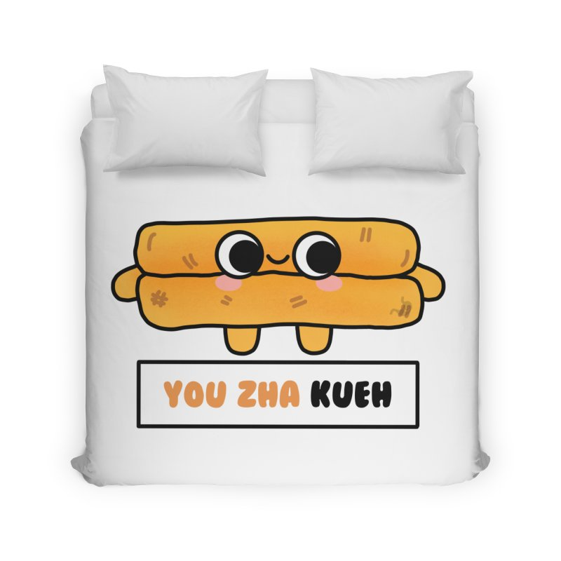 You Zha Kueh (By Singaporeans For Singaporeans) Home Duvet by Laugh And Belly's Merch