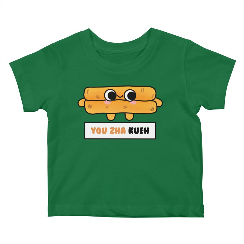 You Zha Kueh (By Singaporeans For Singaporeans) Kids Baby T-Shirt by Laugh And Belly's Merch