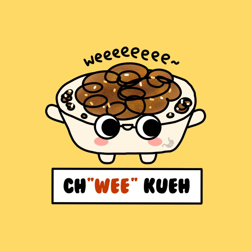 Ch(wee) Kueh (By Singaporeans For Singaporeans) Home Mounted Aluminum Print by Laugh And Belly's Merch