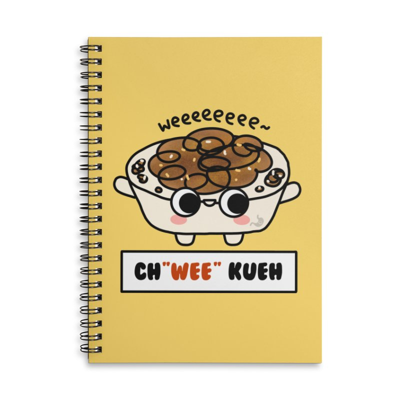 Ch(wee) Kueh (By Singaporeans For Singaporeans) Accessories Notebook by Laugh And Belly's Merch