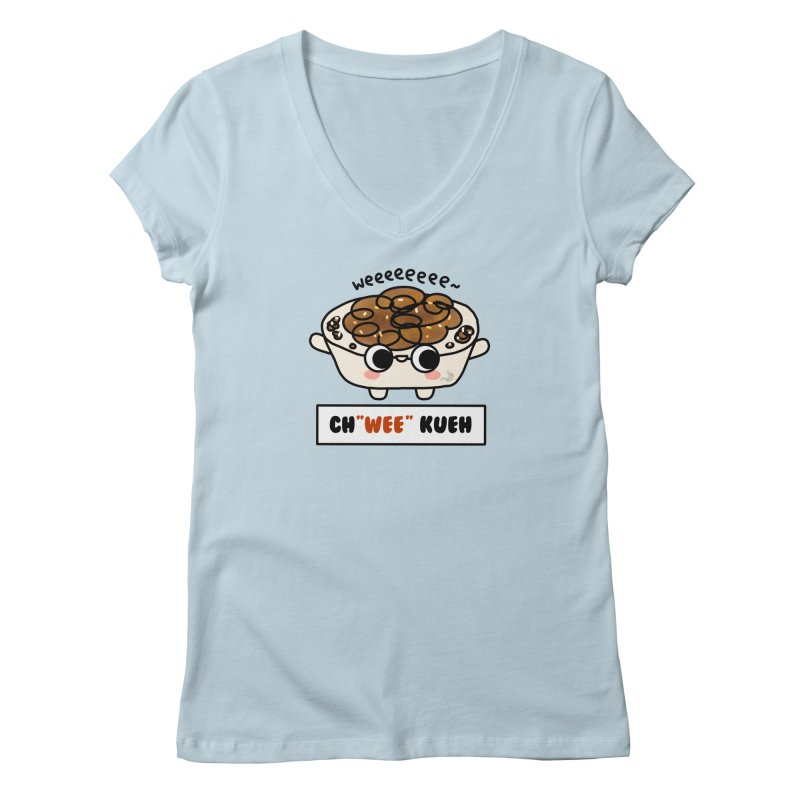 Ch(wee) Kueh (By Singaporeans For Singaporeans) Women's V-Neck by Laugh And Belly's Merch