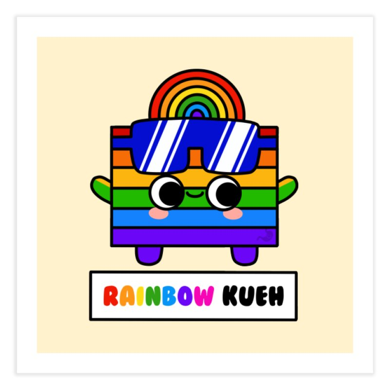 Rainbow Kueh (By Singaporeans For Singaporeans) Home Fine Art Print by Laugh And Belly's Merch