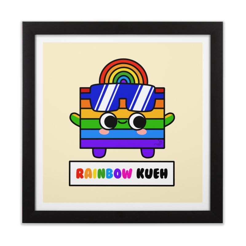Rainbow Kueh (By Singaporeans For Singaporeans) Home Framed Fine Art Print by Laugh And Belly's Merch