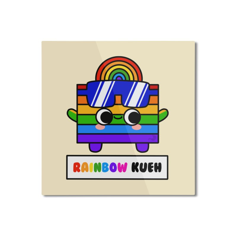 Rainbow Kueh (By Singaporeans For Singaporeans) Home Mounted Aluminum Print by Laugh And Belly's Merch