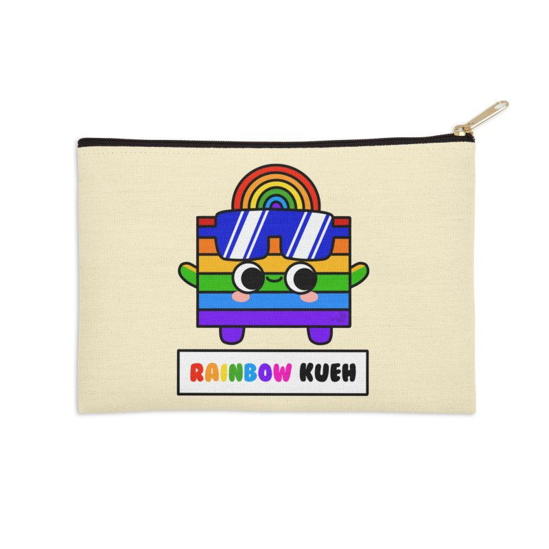 Rainbow Kueh (By Singaporeans For Singaporeans) Accessories Zip Pouch by Laugh And Belly's Merch