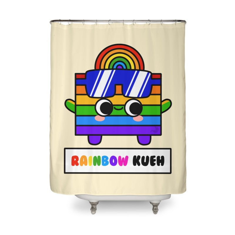 Rainbow Kueh (By Singaporeans For Singaporeans) Home Shower Curtain by Laugh And Belly's Merch