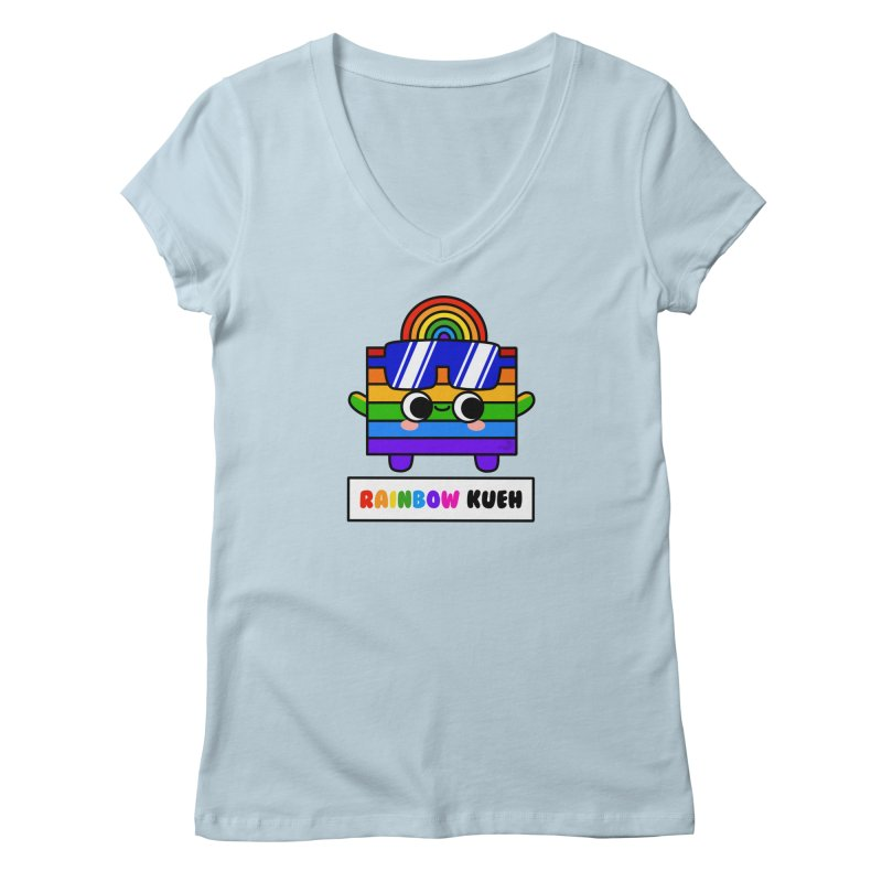 Rainbow Kueh (By Singaporeans For Singaporeans) Women's V-Neck by Laugh And Belly's Merch