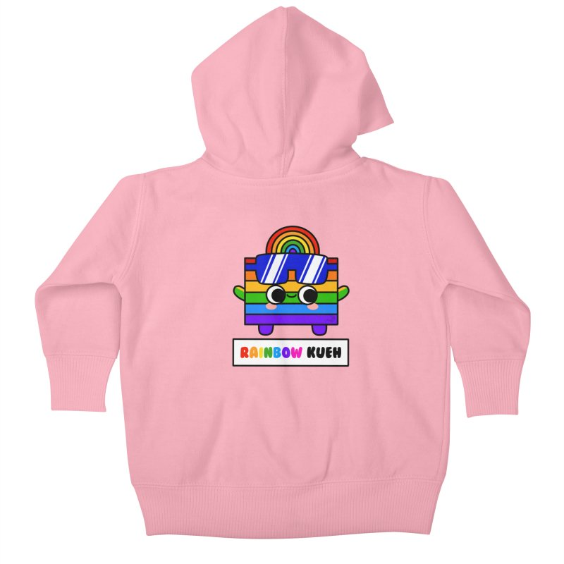 Rainbow Kueh (By Singaporeans For Singaporeans) Kids Baby Zip-Up Hoody by Laugh And Belly's Merch