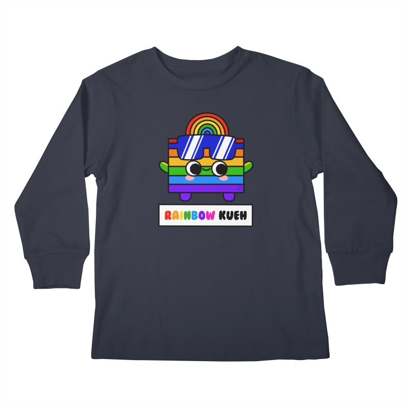 Rainbow Kueh (By Singaporeans For Singaporeans) Kids Longsleeve T-Shirt by Laugh And Belly's Merch