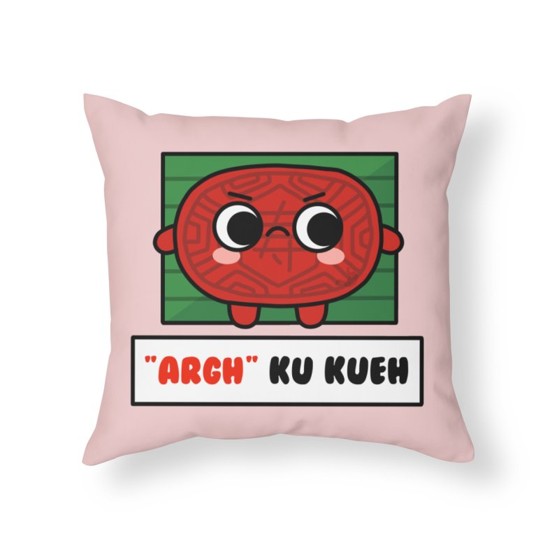ARGH! Ku Kueh (By Singaporeans For Singaporeans) Home Throw Pillow by Laugh And Belly's Merch