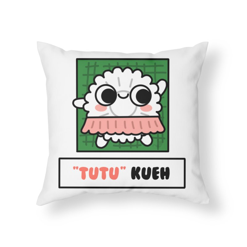 """""""Tutu"""" Kueh (By Singaporeans For Singaporeans) Home Throw Pillow by Laugh And Belly's Merch"""
