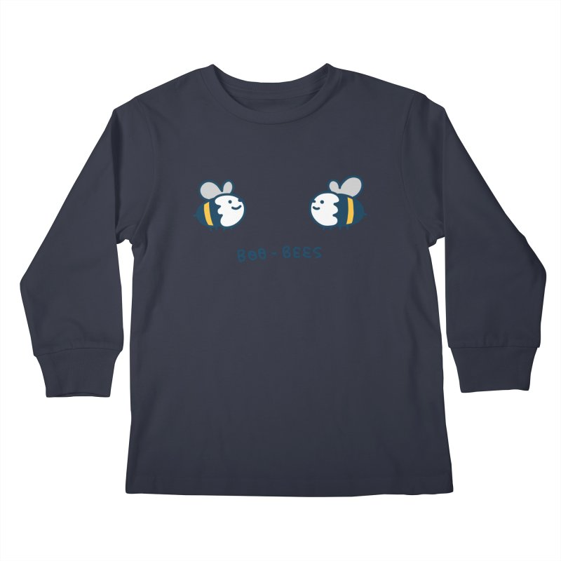 Boo-bees Kids Longsleeve T-Shirt by Laugh And Belly's Merch