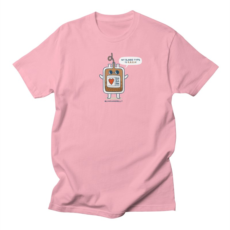 My Blood Type Is Boba Men's T-Shirt by Laugh And Belly's Merch