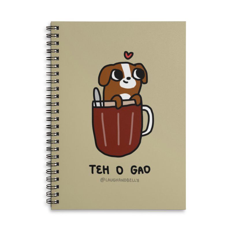 Teh O Gao (For Singaporeans By Singaporeans) Accessories Notebook by Laugh And Belly's Merch