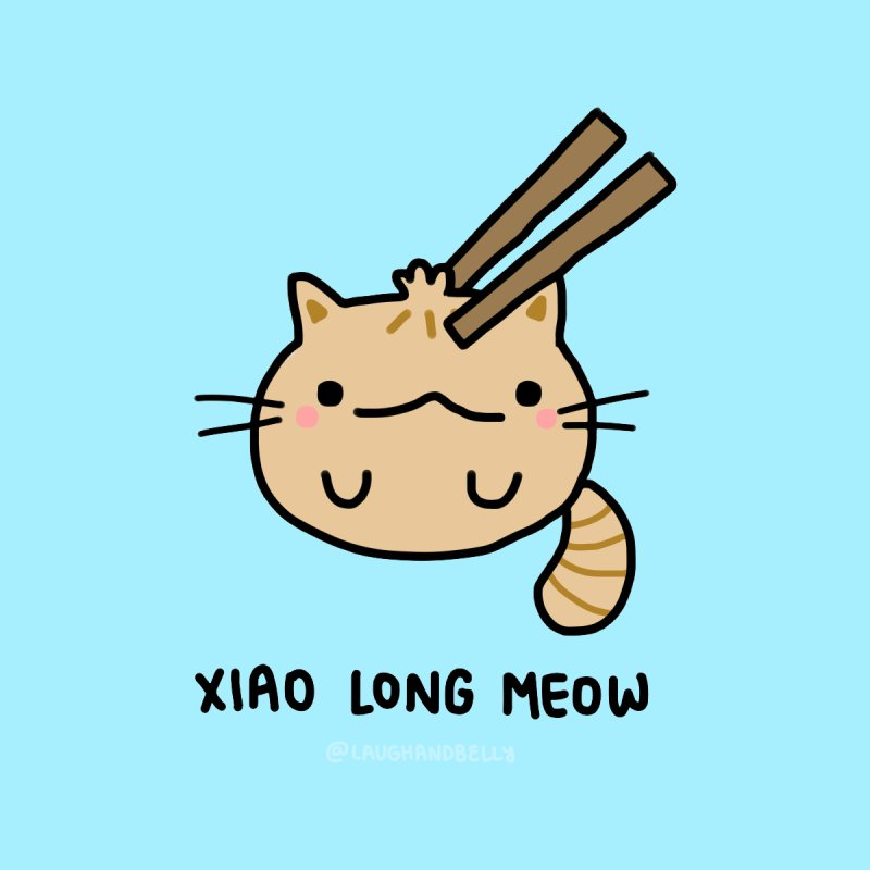 Xiao Long Meow (For Singaporeans By Singaporeans) Men's T-Shirt by Laugh And Belly's Merch