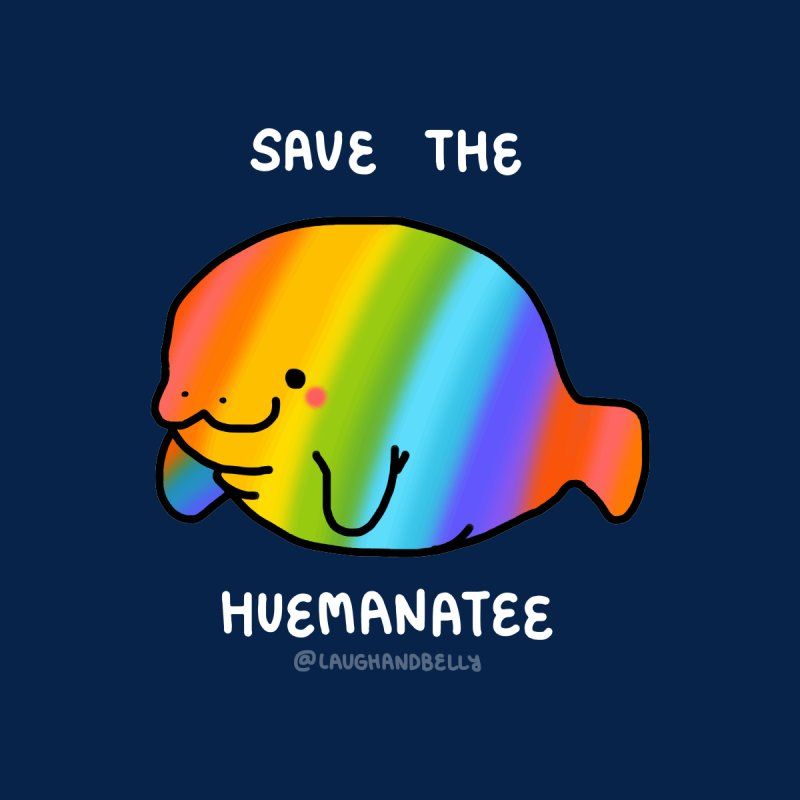 Save The Hue-Manatee Accessories Bag by Laugh And Belly's Merch