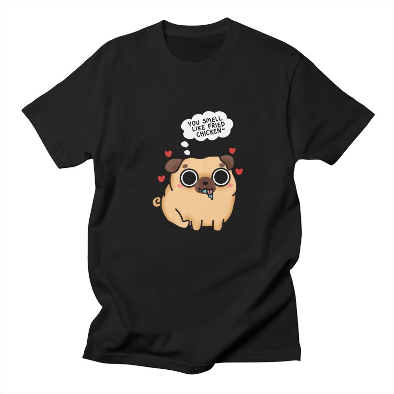 Pugs Drool in Men's Regular T-Shirt Black by Laugh And Belly's Merch