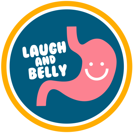 Logo for Laugh And Belly's Merch