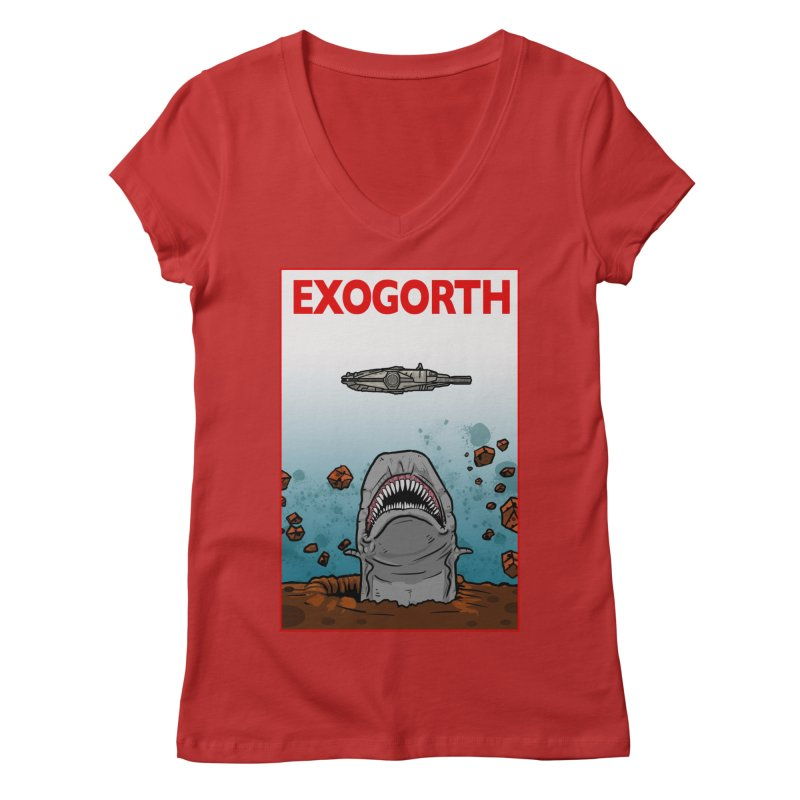 Exogorth Women's V-Neck by The Launchpad Podcast
