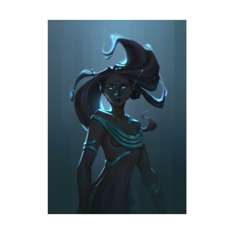 Black Mermaid Regular-fit & Men's T-Shirt by Laura Faraci Graphics