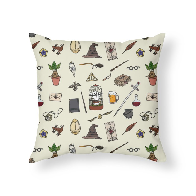 Harry Pattern in Throw Pillow by LauraFrere's Artist Shop