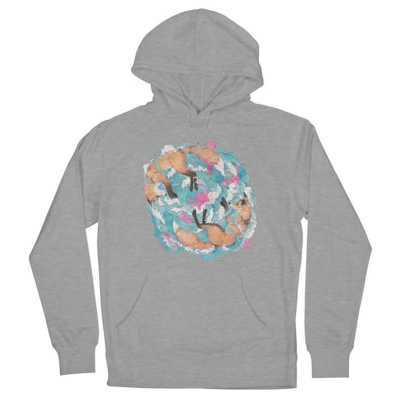 falling foxes Men's Pullover Hoody by lauragraves's Artist Shop