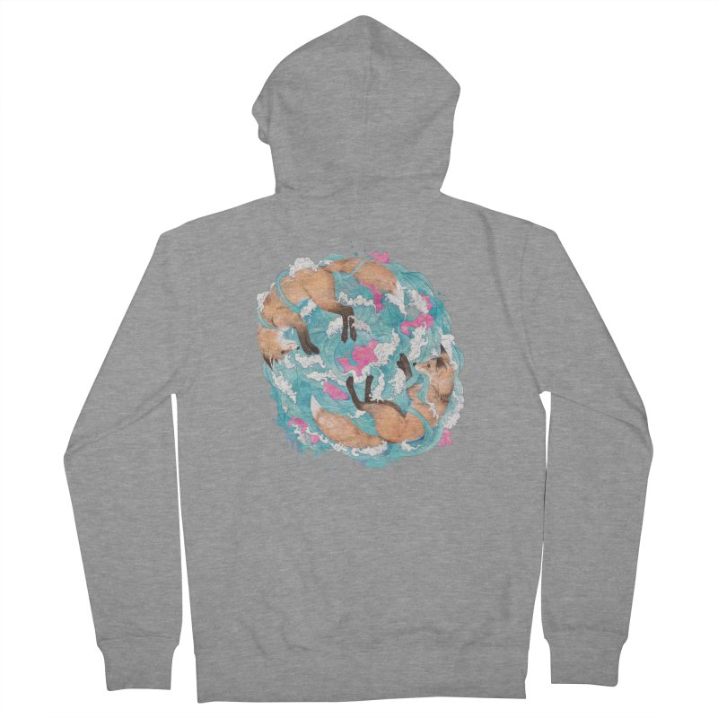 falling foxes Men's Zip-Up Hoody by lauragraves's Artist Shop