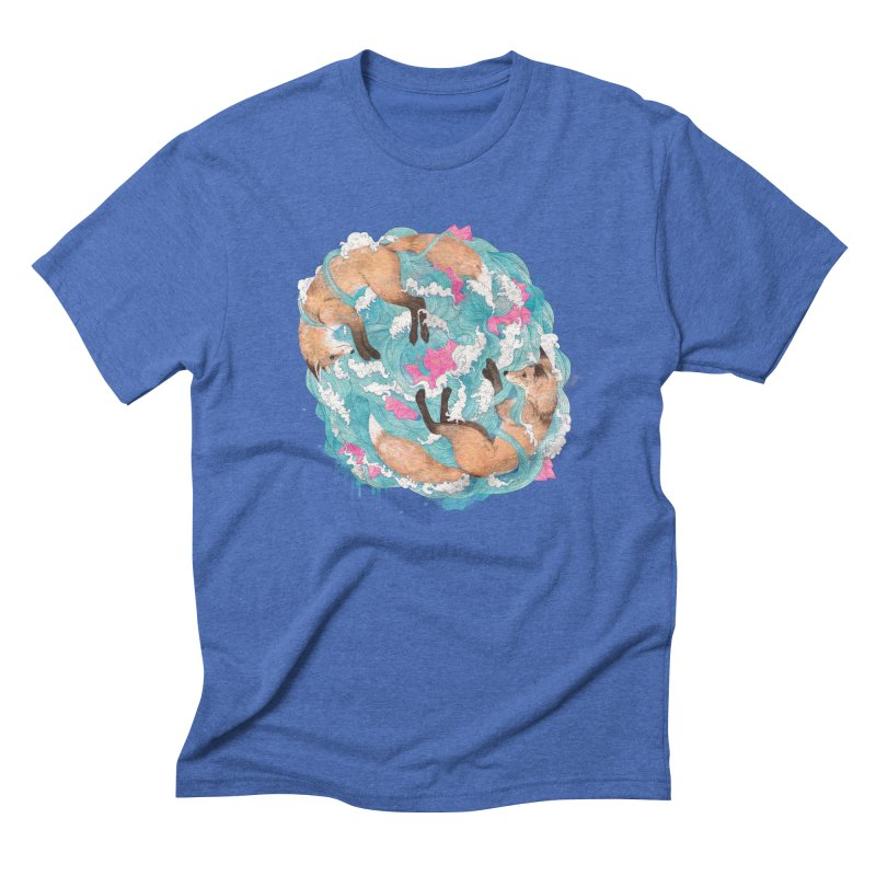 falling foxes Men's Triblend T-Shirt by lauragraves's Artist Shop