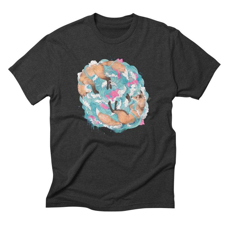 falling foxes Men's Triblend T-Shirt by lauragraves's Artist Shop