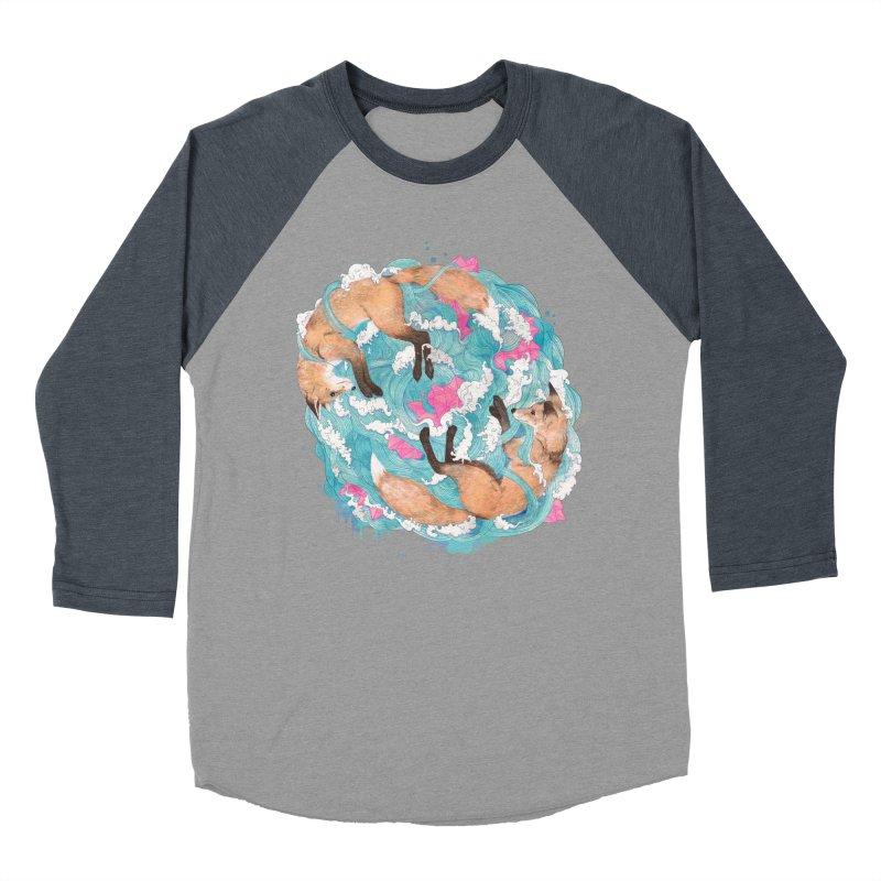 falling foxes Men's Baseball Triblend T-Shirt by lauragraves's Artist Shop