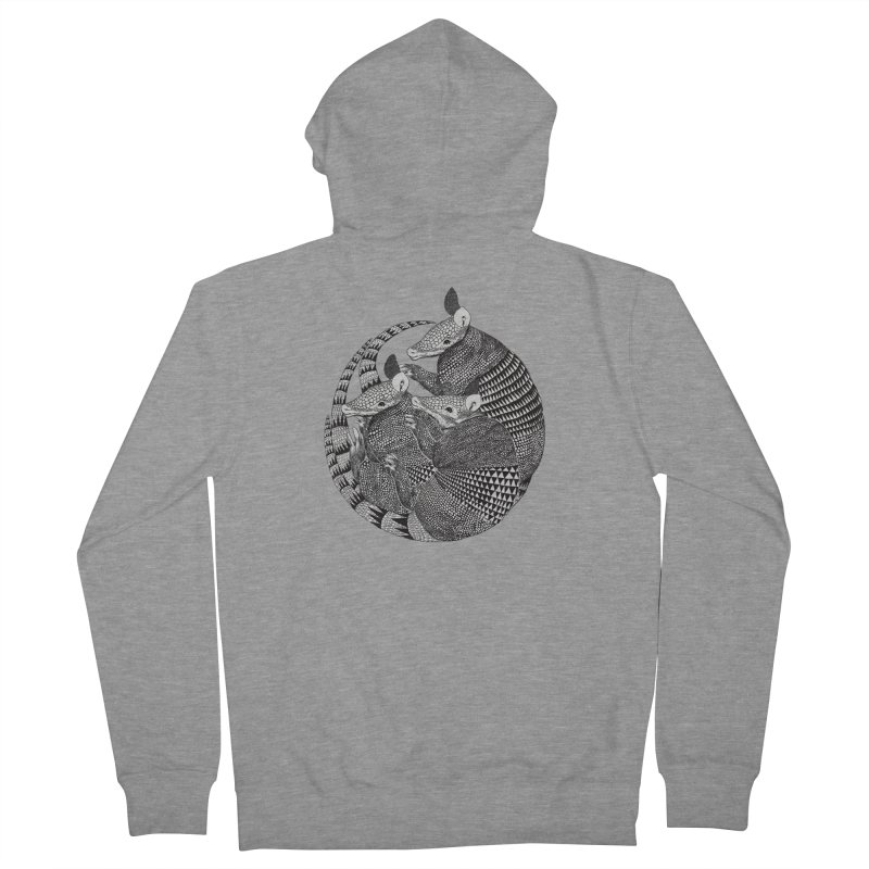 Armadillo Women's Zip-Up Hoody by lauragraves's Artist Shop