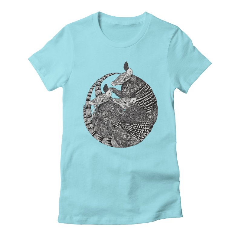 Armadillo Women's Fitted T-Shirt by lauragraves's Artist Shop