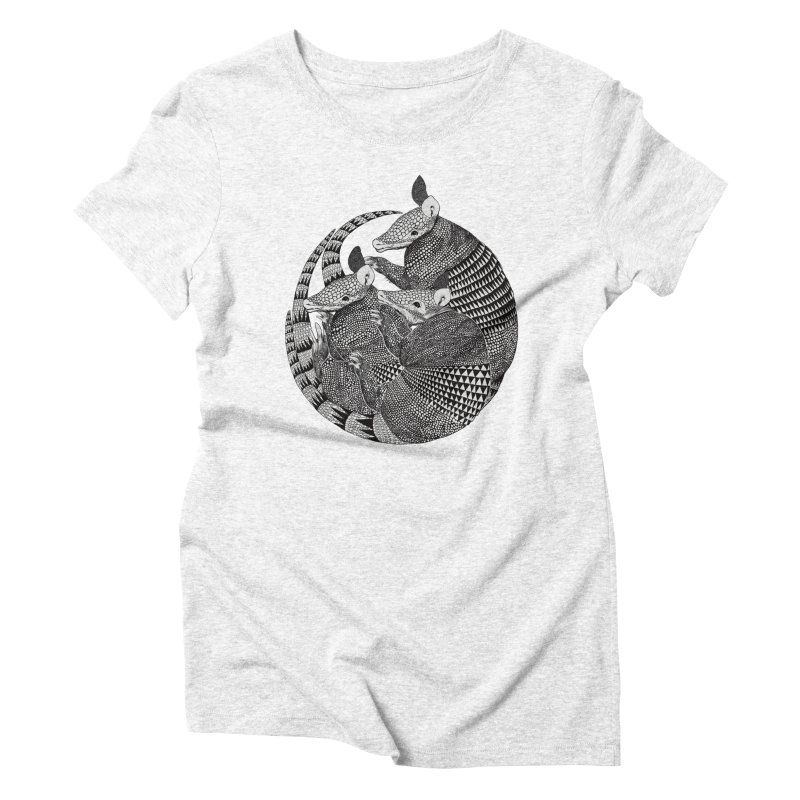 Armadillo Women's Triblend T-shirt by lauragraves's Artist Shop