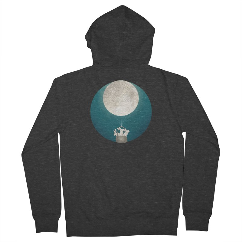 Moon Bunnies Women's Zip-Up Hoody by lauragraves's Artist Shop