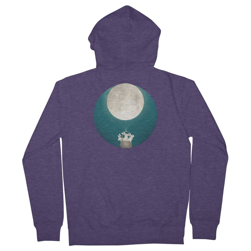 Moon Bunnies Men's Zip-Up Hoody by lauragraves's Artist Shop