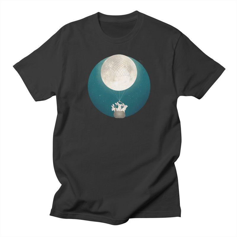 Moon Bunnies Men's T-Shirt by lauragraves's Artist Shop
