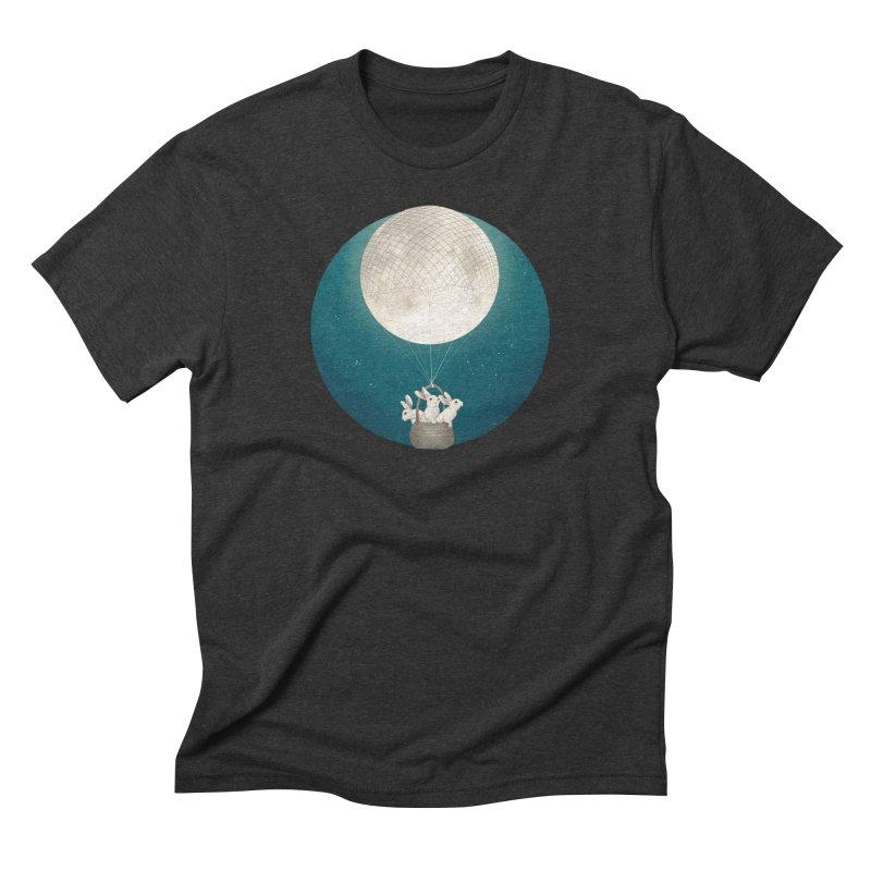 Moon Bunnies Men's Triblend T-Shirt by lauragraves's Artist Shop