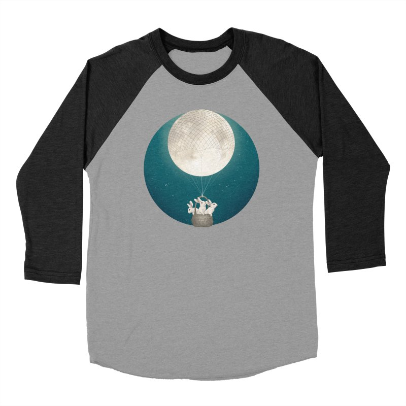 Moon Bunnies Women's Baseball Triblend T-Shirt by lauragraves's Artist Shop