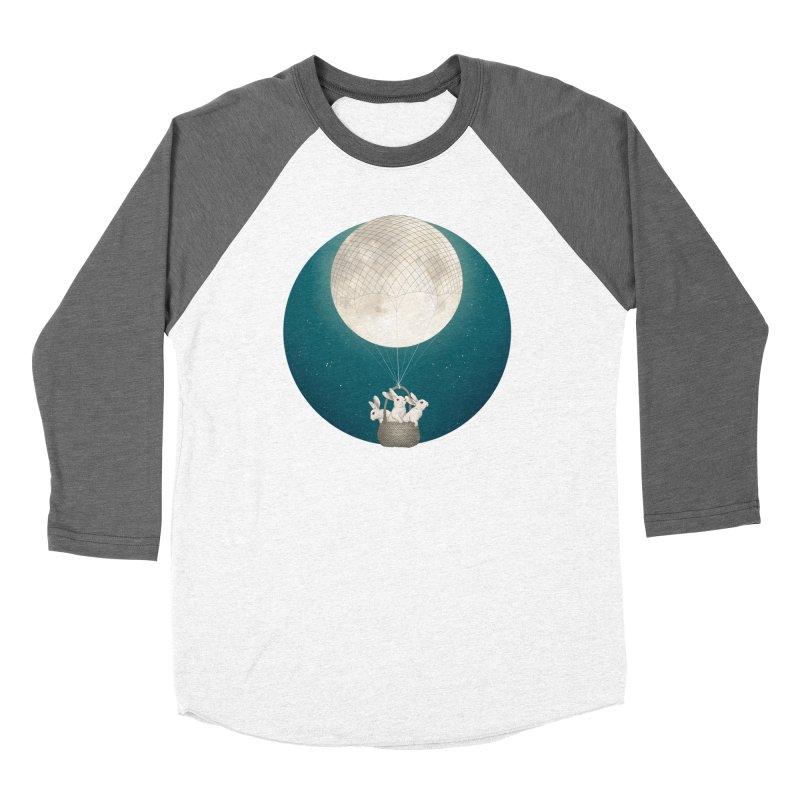 Moon Bunnies Men's Baseball Triblend T-Shirt by lauragraves's Artist Shop