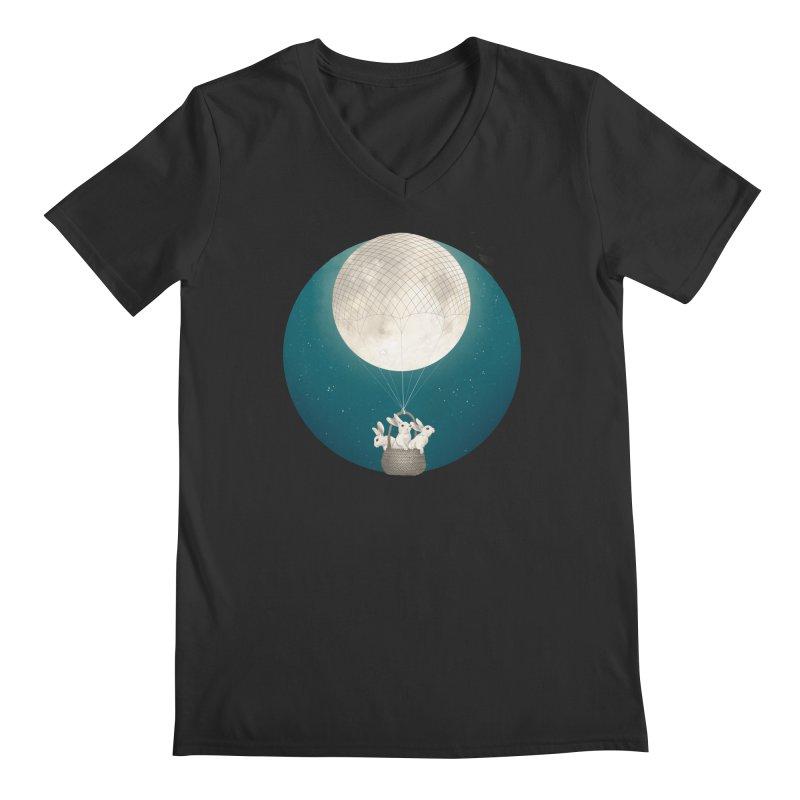 Moon Bunnies Men's V-Neck by lauragraves's Artist Shop