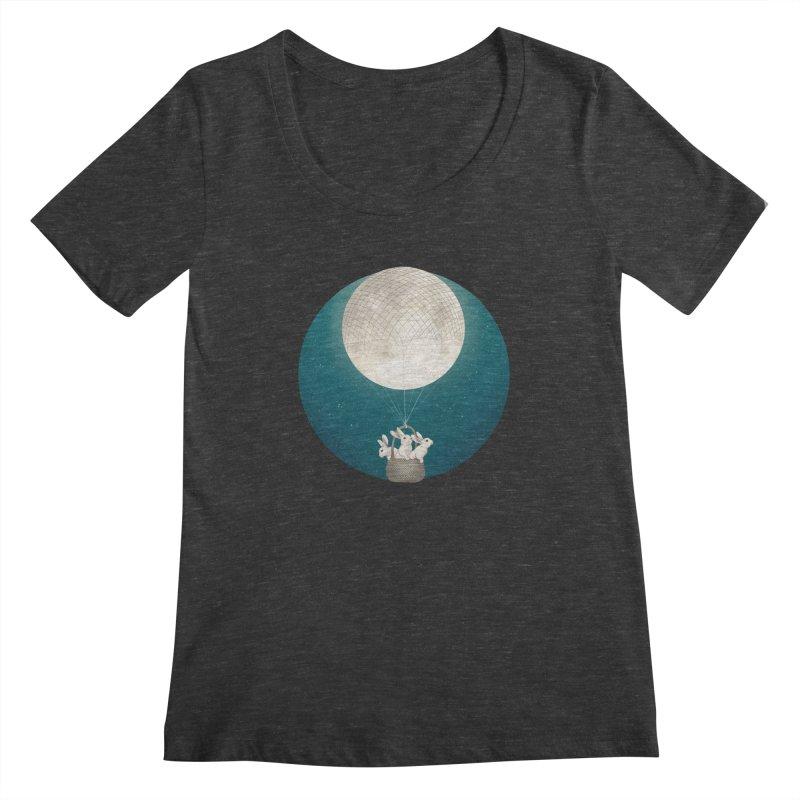 Moon Bunnies Women's Scoopneck by lauragraves's Artist Shop