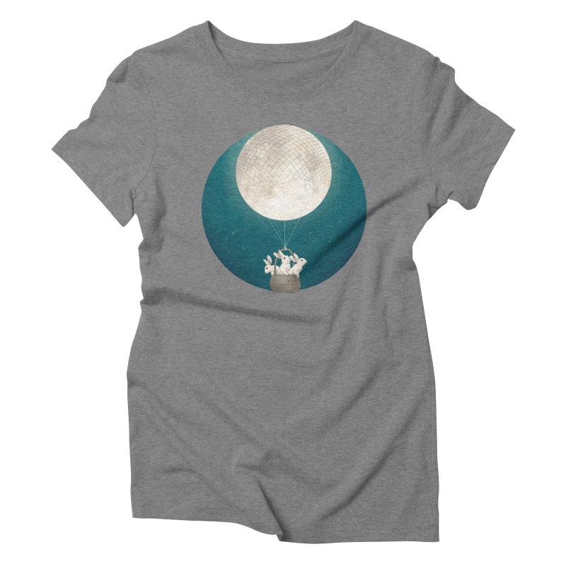 Moon Bunnies Women's Triblend T-Shirt by lauragraves's Artist Shop