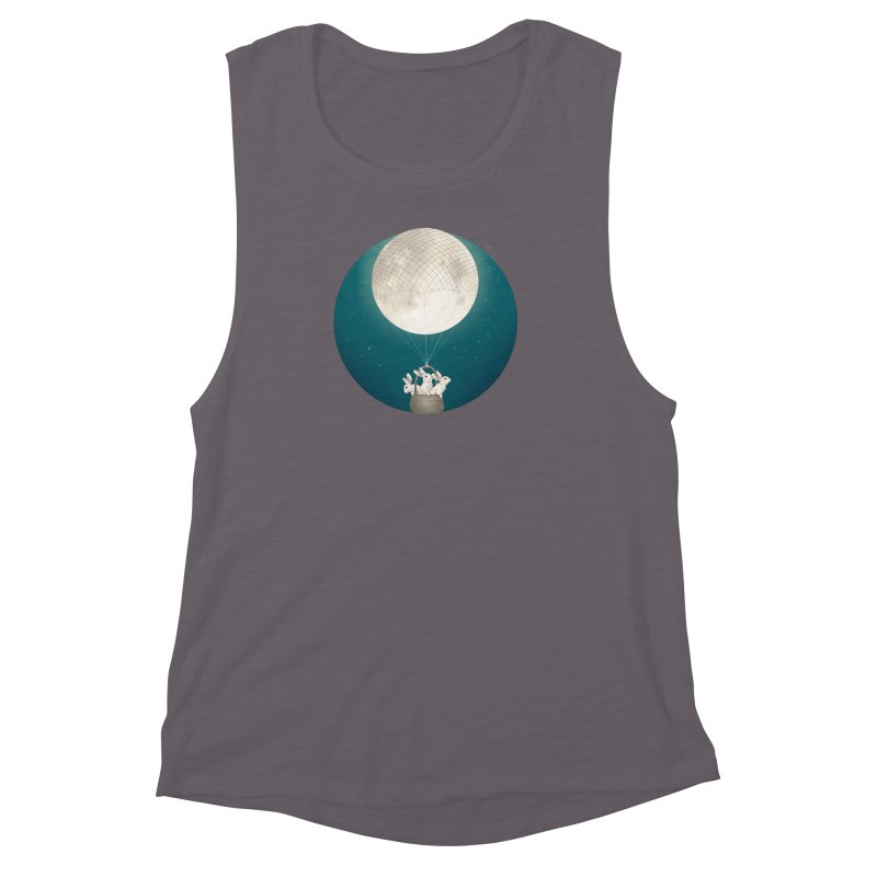 Moon Bunnies Women's Muscle Tank by lauragraves's Artist Shop