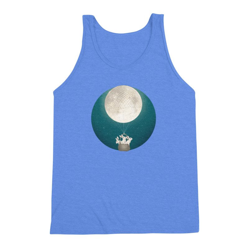 Moon Bunnies Men's Triblend Tank by lauragraves's Artist Shop